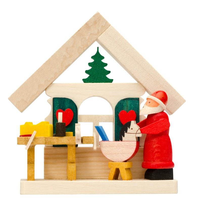 moma erzgebirge  christbaumschmuck haus weihnachtsmann